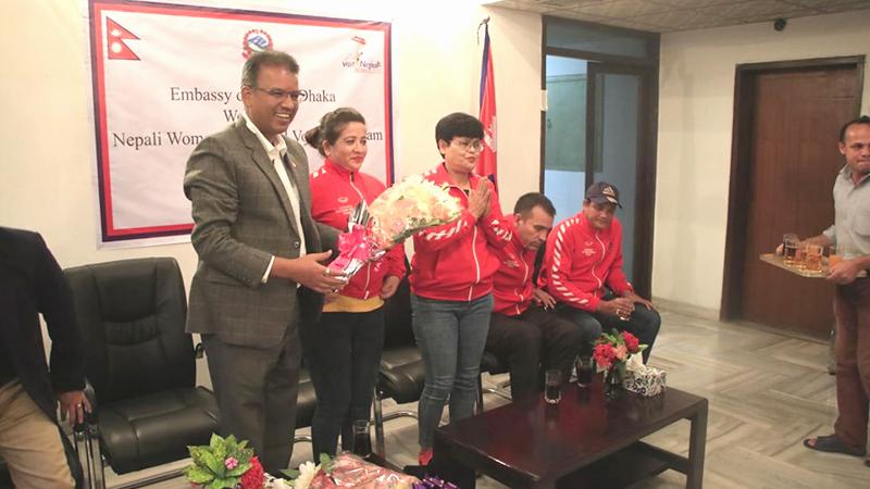 पदक विजेता एपीएफका खेलाडी सम्मानित