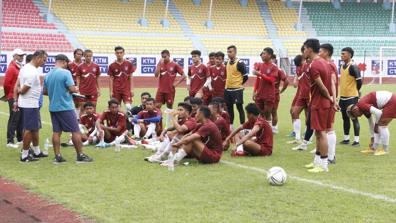 यू-२३ एशियन कप छनाेटका लागि २३ खेलाडीकाे अन्तिम टिमकाे घाेषणा