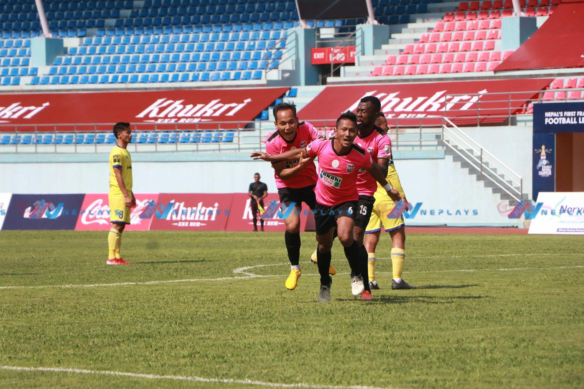 विराटनगर धनगढीविरूद्ध २-० ले अगाडी