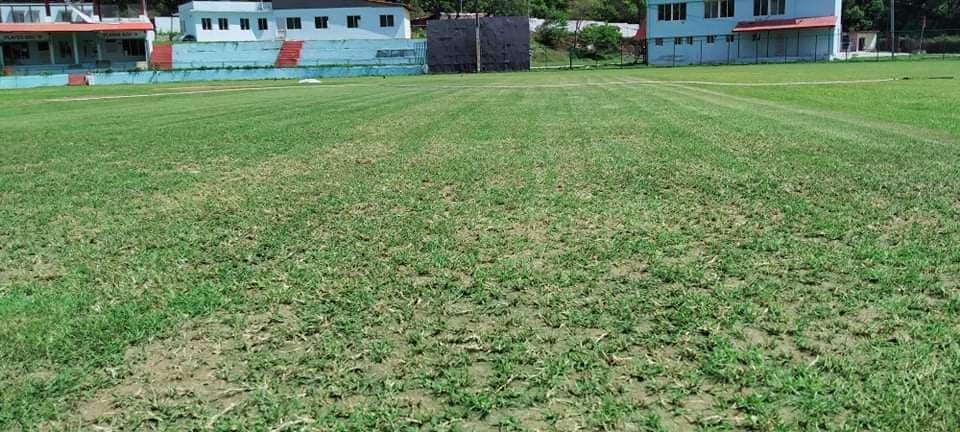 निषेधाज्ञाका बेला पनि त्रिवि क्रिकेट मैदानमा मर्मतकाे काम जारी