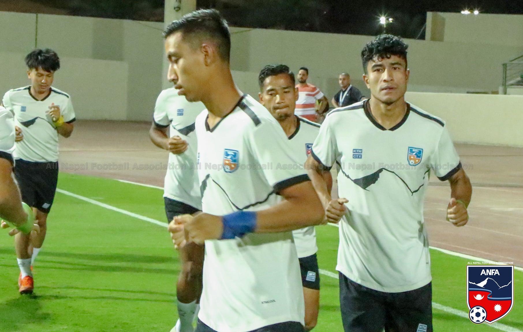 १० मिनेट भित्र नै नेपाल र इराककाे खेल १-१ काे बराबरीमा