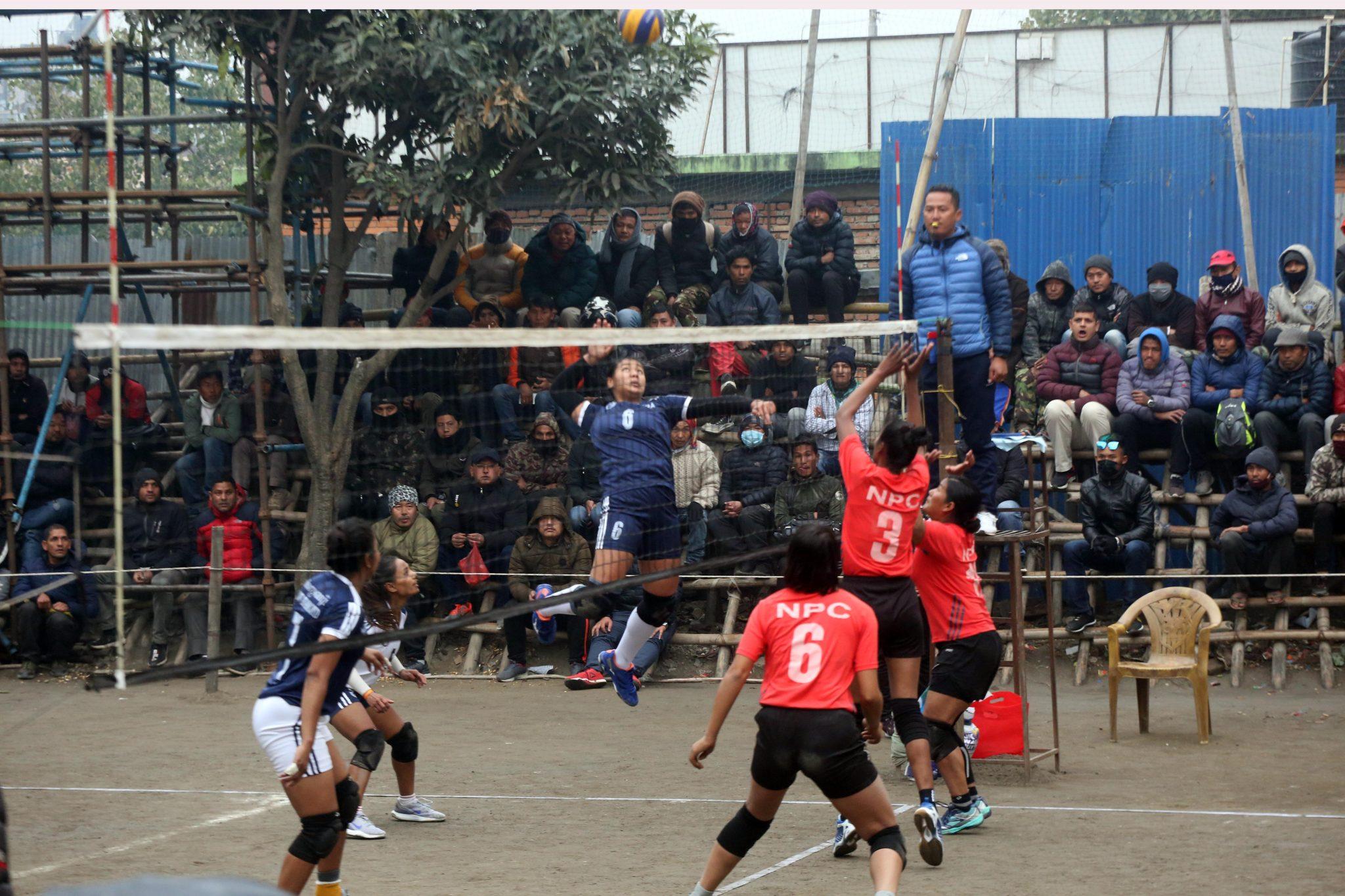 महिला भलिबलमा आज ५ खेल, आर्मी र एपीएफ पनि भिड्दै