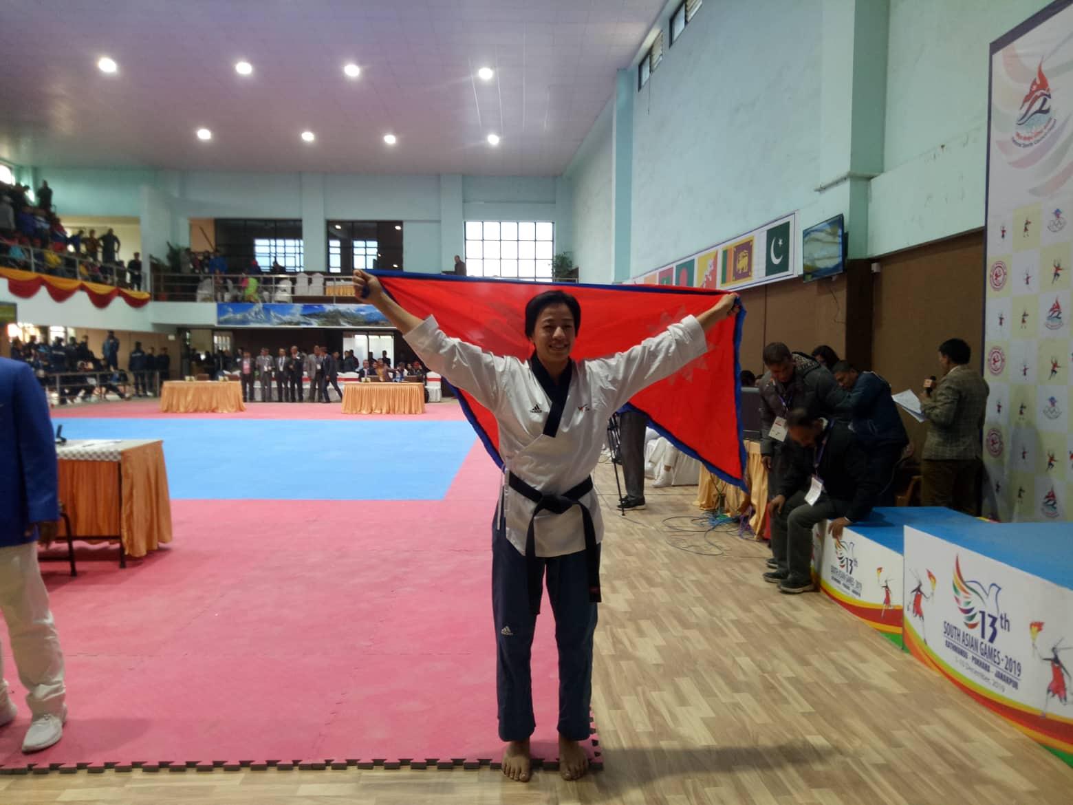 सागमा तेक्वान्दाेमा चाैथाे स्वर्ण, आयशा शाक्यले जितिन पदक