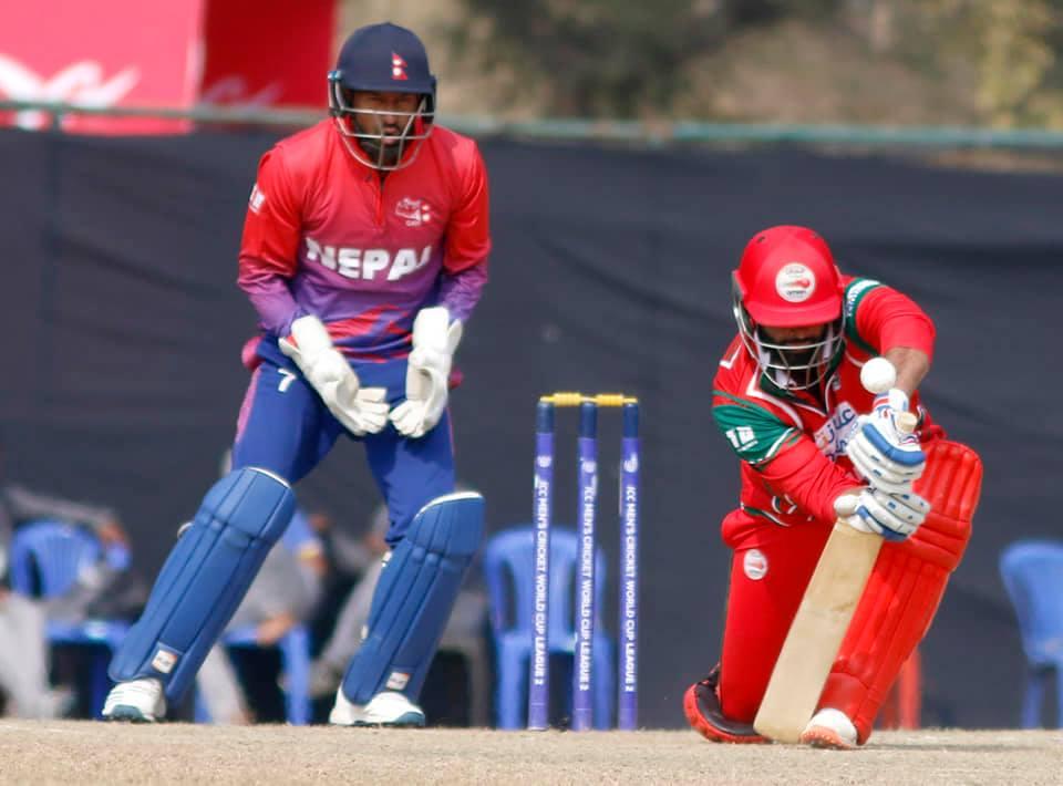 ओमानले नेपाललाई एकदिवसीय क्रिकेट कसरी खेल्ने भन्ने पाठ सिकाएकाे खेल…