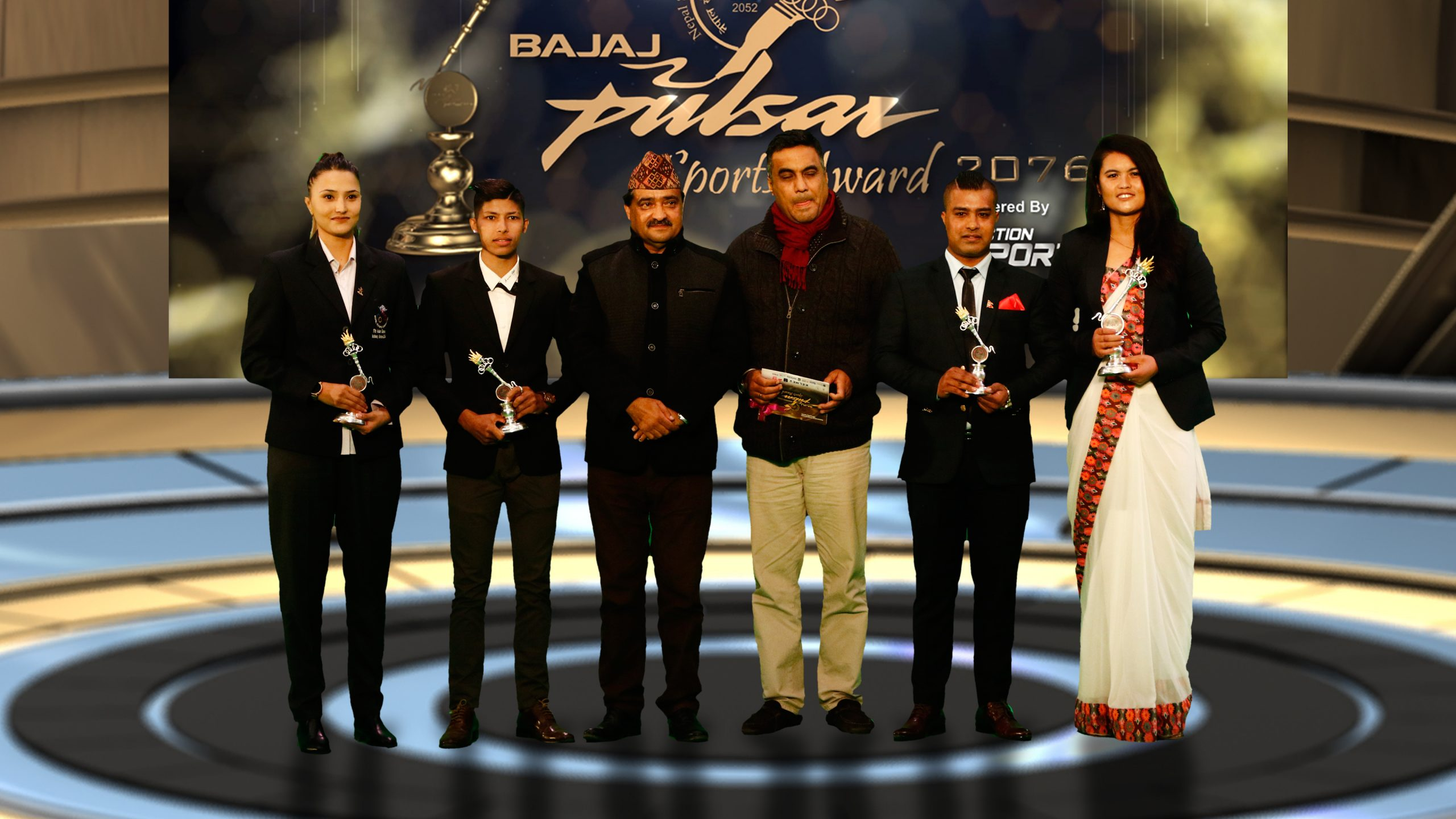 पल्सर स्पाेर्टस अवार्डमा मण्डेकाजी र गाैरीका बर्षकाे उत्कृष्ट खेलाडी, अरूणा पिपल्स च्वाइस विजेता
