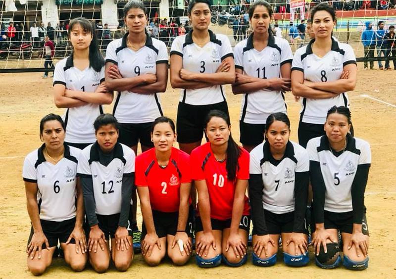 न्यू डाईमण्डलाई हराउँदै एपीएफ महिला भलिबलको फाइनलमा