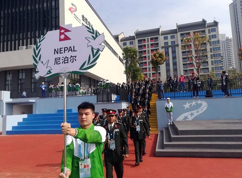विश्व सैंनिक खेलकुद आजदेखि चीनमा, नेपालले १३ खेलमा प्रतिस्पर्धा गर्ने