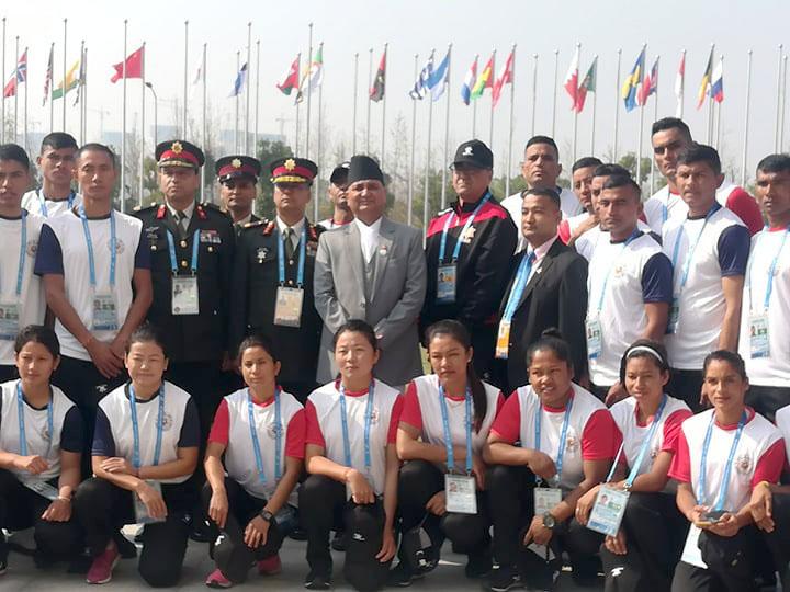 चीनमा नेपाली सैन्य खेलाडीलाई रक्षामन्त्रीकाे निर्देशन : देशको प्रतिष्ठा बढाउने गरी प्रस्तुत हुनोस्
