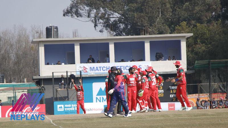 एक दिवसीय क्रिकेटमा ओमानसँग नेपाल १८ रनले पराजित