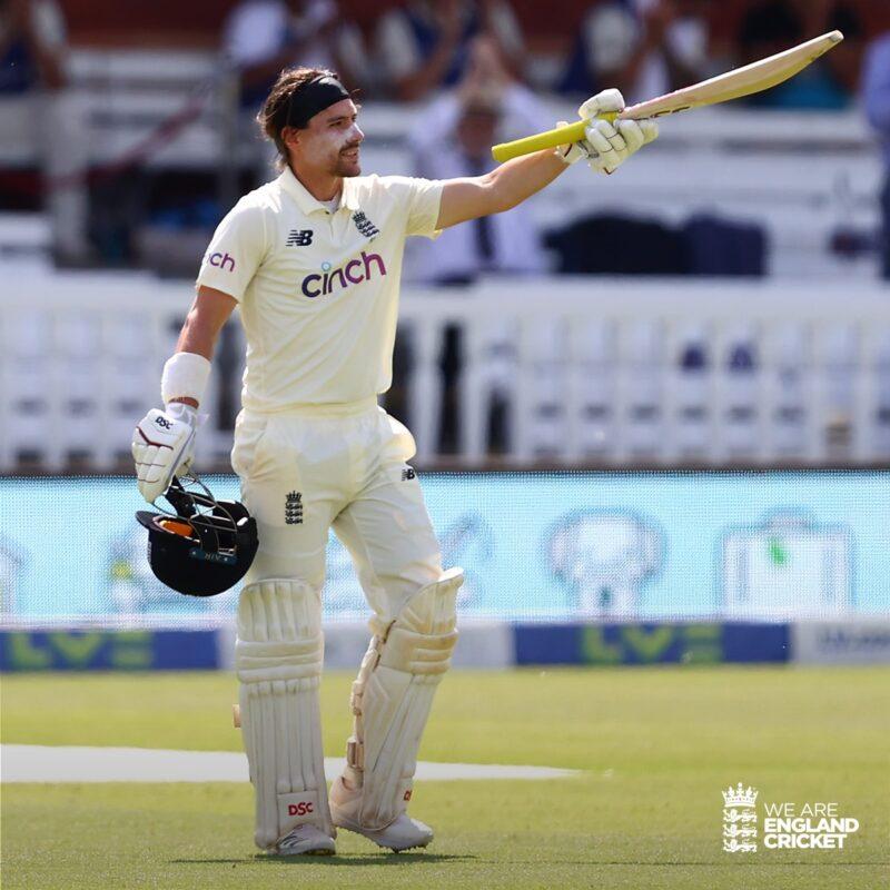 ब्रुन्सले शतक प्रहार गरेको टेस्टमा इंग्ल्याण्ड १०३ रनले पछाडि