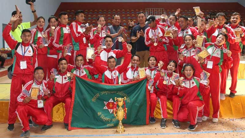 आठौं राष्ट्रिय खेलकुदः पदक तालिकामा विभागीय टिमकाे बर्चश्व