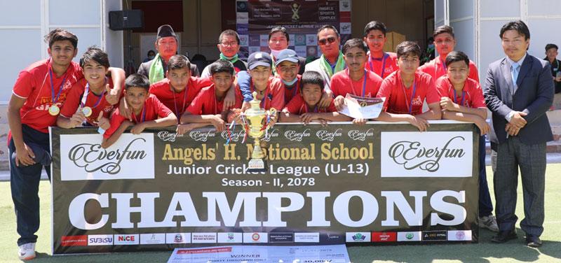 जिएचसीए 'बी' ले जित्याे यु–१३ क्रिकेटकाे उपाधि