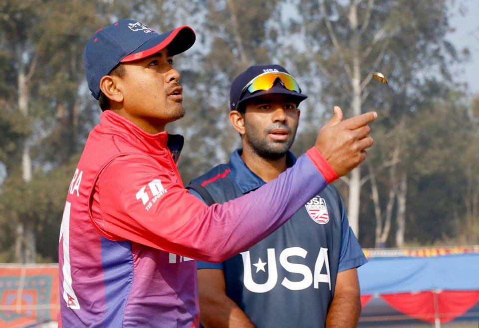 एक दिवसीय क्रिकेटमा नेपालकाे दुर्लभ कीर्तिमान, अमेरिका ८ विकेटले पराजित