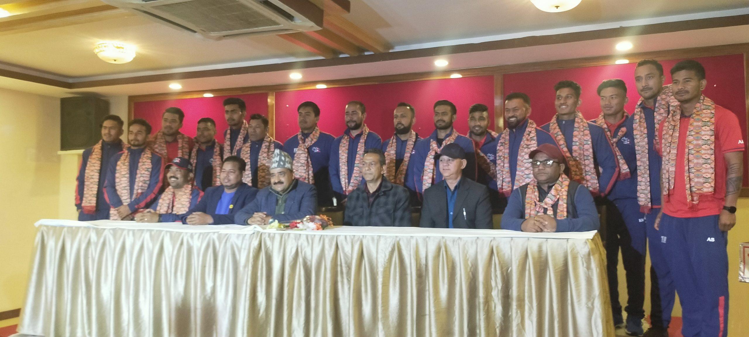 नेपाली क्रिकेट टिमको विदाई, लक्ष्य उपाधि