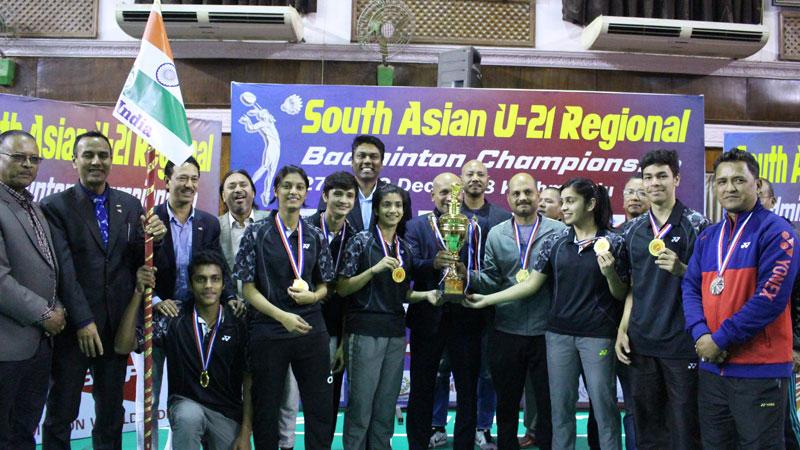 दक्षिण एसियाली  यू-२१ ब्याडमिन्टनकाे मिक्स्ड डबल्समा भारत च्याम्पियन