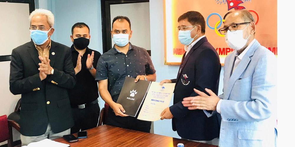 केल्मी र ओलम्पिक कमिटिबीच प्रायोजन सम्झौता