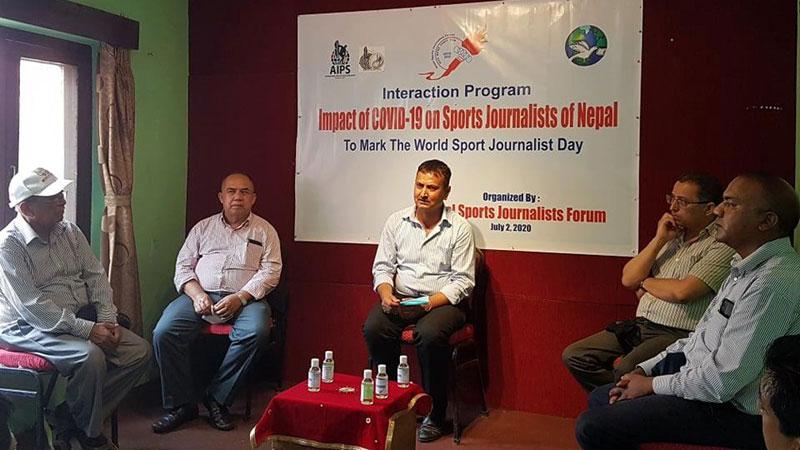 अन्तरक्रिया गरेर विश्व खेलकुद पत्रकार दिवस मनाइयो