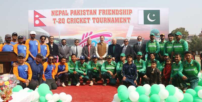नेपाल-पाकिस्तान फ्रेन्डसिप क्रिकेट शुरु