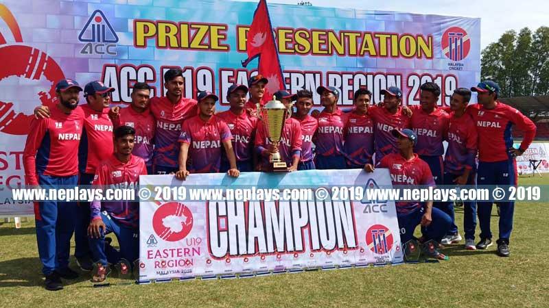 Nepal clinch ACC Eastern Region Cricket Championship-2019