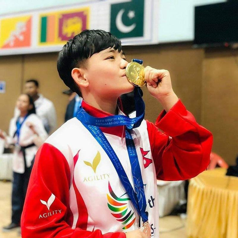 भर्चुअल तेक्वान्दोमा पार्वतीलाई स्वर्ण पदक