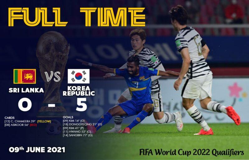 विश्वकप छनोटमा श्रीलंकाविरुद्ध कोरियाको फराकिलो जित