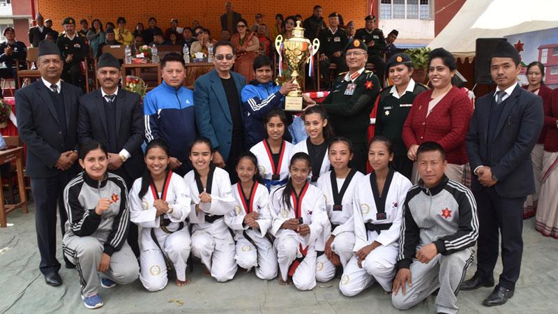 दोस्रो प्रधान सेनापति छात्रा तेक्वान्दो प्रतियोगिताको उपाधि विजेश्वरीलाई