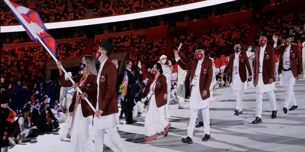 विरोधकाबीच टोकियो ओलम्पिकको उद्घाटन, मार्चपासमा नेपालबाट ८ जना जाँदा ६ पदाधिकारी