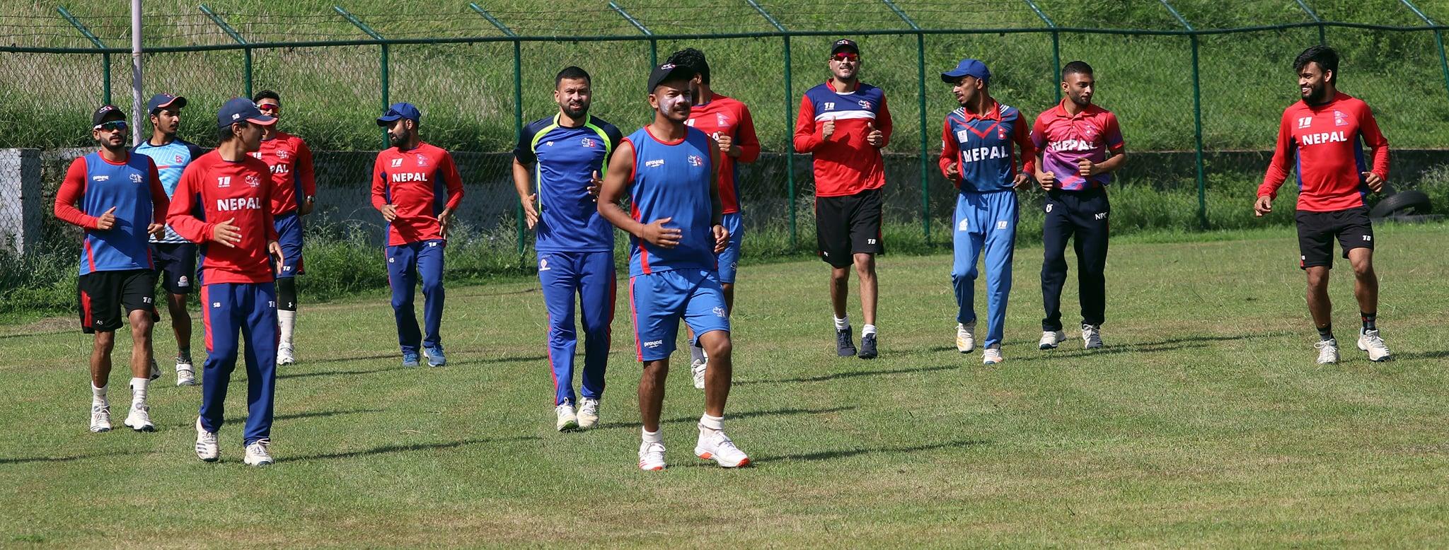 नेपाली क्रिकेट टिमको बन्द प्रशिक्षण स्थगित