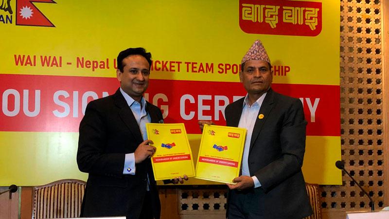 नेपाली अन्डर नाइन्टीन पुरुष क्रिकेट टिमलाई वाइ वाइको प्रायोजन