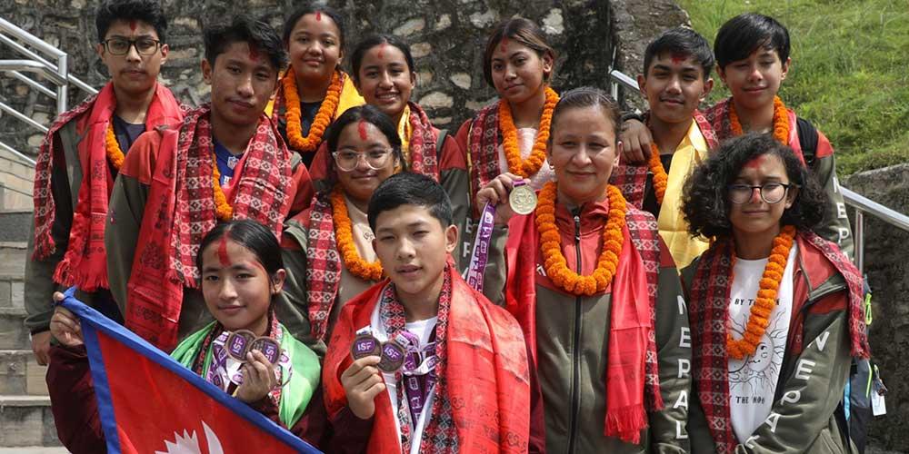 ISF U-15 World School Sport Games: Nepali team returned
