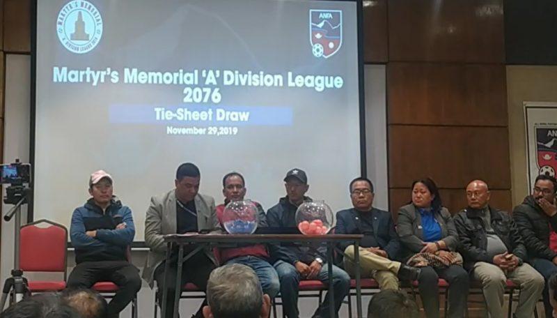 ए डिभिजन लिगमा साविक विजेता मनाङकाे खेल एपीएफसँग, थ्रीस्टारले जाउलाखेलसँग खेल्ने