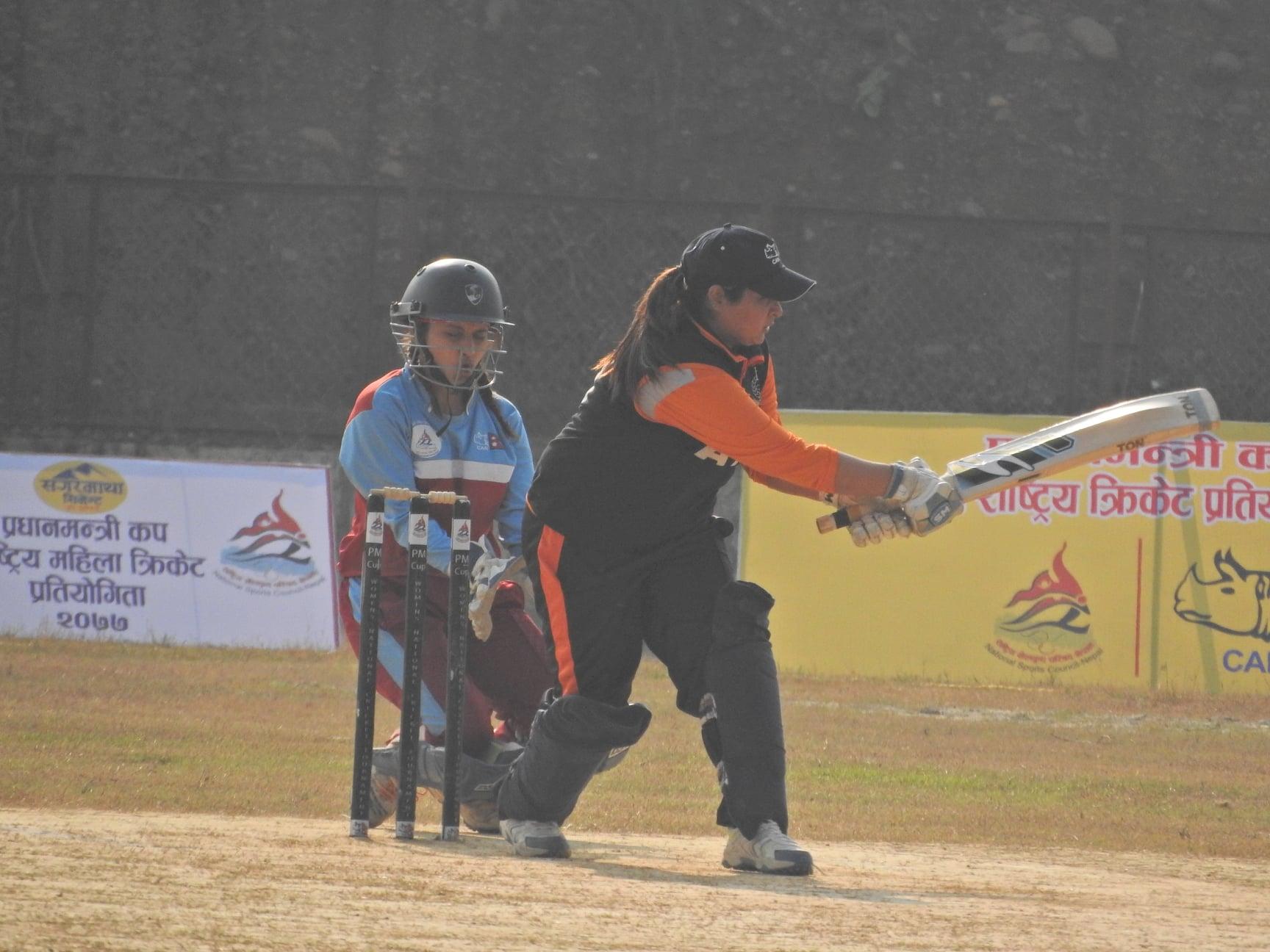 एपीएफले लुम्बिनी प्रदेशसामु १४३ रनकाे लक्ष्य