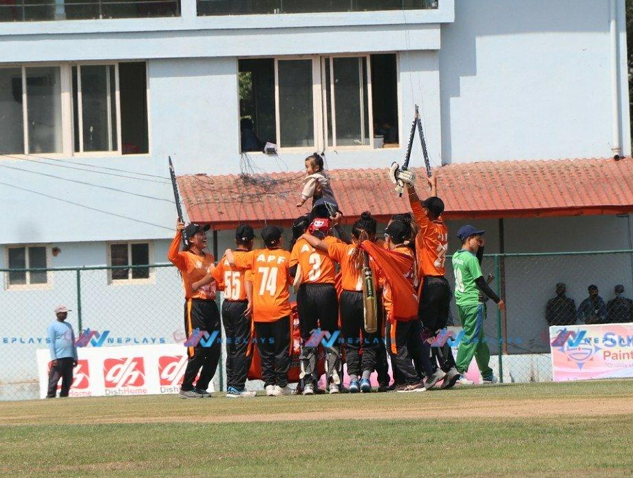 मेयर कप महिला टी-२० क्रिकेटको उपाधि एपीएफले उचाल्यो