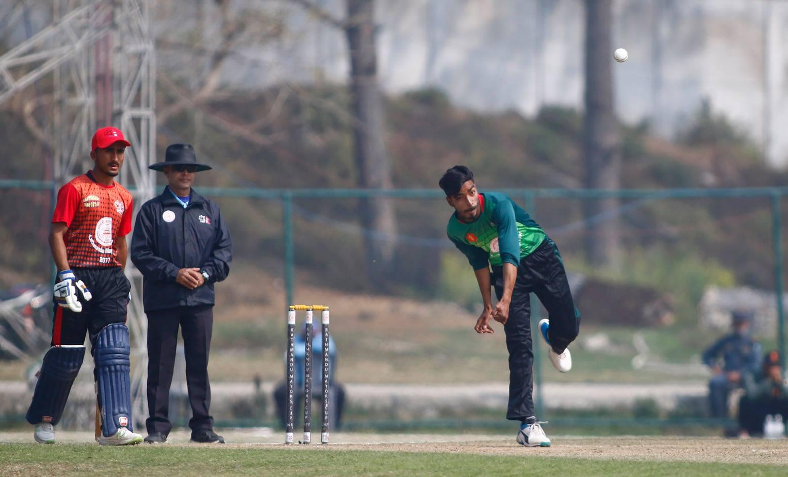 मेयर कप क्रिकेटमा एपीएफ र पुलिस फिल्डिङमा