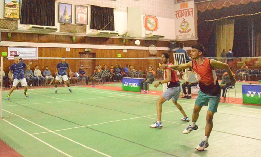 कृष्णमाेहन ब्याडमिन्टनकाे पुरुष डबल्सकाे उपाधिका लागि अार्मी र पुलिस भिड्ने