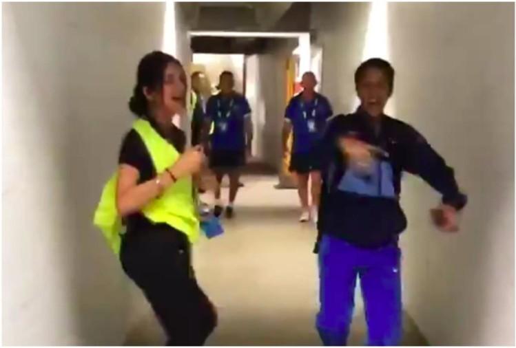 महिला टी–२० विश्वकपः भारतीय खेलाडी जेमिमा र सुरक्षा गार्डसँगको डान्स भाइरल