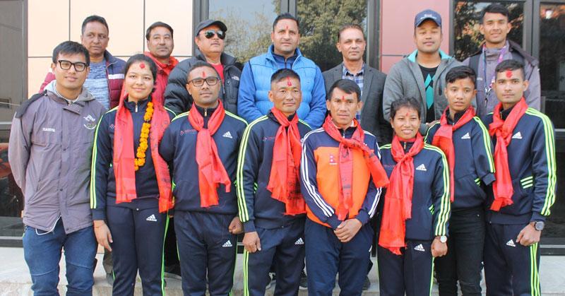 पारा तेक्वान्दो टोली भारततर्फ