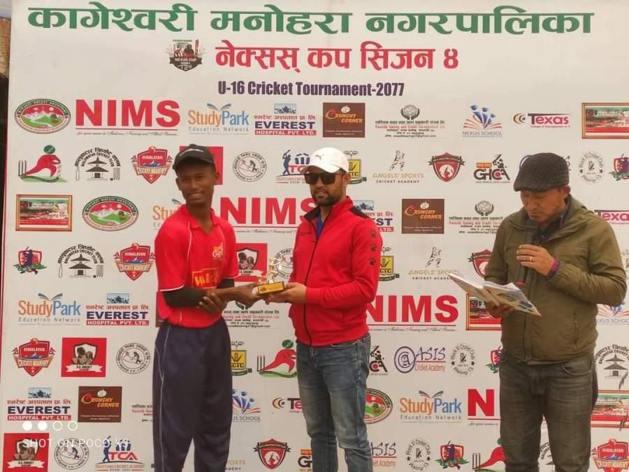 ग्रेट हिमालय क्रिकेट एकेडेमी ए र ओसिस क्रिकेट एकेडेमी क्वाटरफाईनलमा