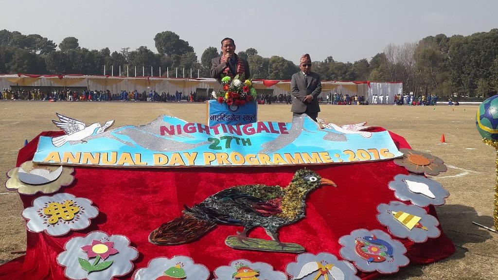 नाइटिङ्गेल स्कूलको मनायो वार्षिक उत्सव र खेलकुद सप्ताह
