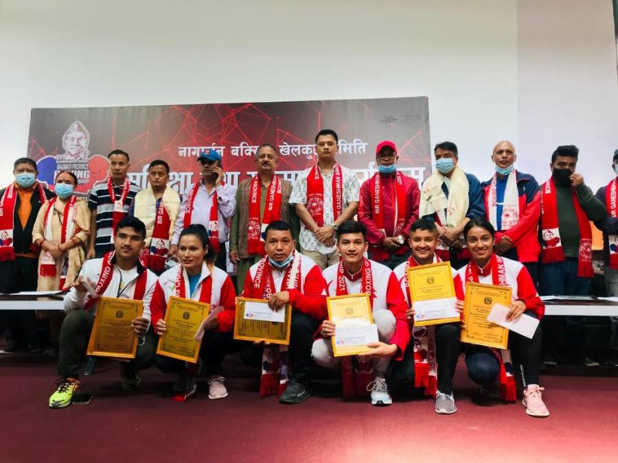तेक्वान्दो प्रशिक्षक नोर्बु लामा सहित ६ खेलाडी सम्मानित