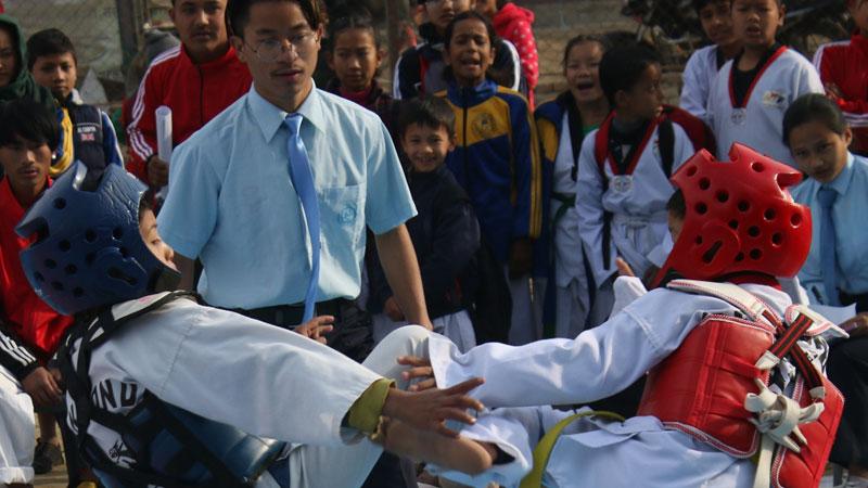 काठमाडौं जिल्ला स्तरीय तेक्वान्दोमा रोशनलाई स्वर्ण