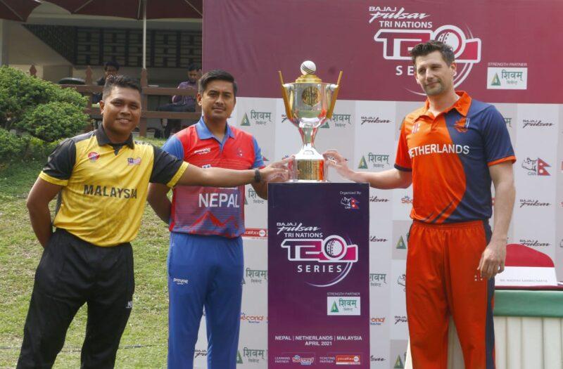 त्रिकोणात्मक सिरिजको उद्घाटन खेलमा नेपाल र नेदरल्याण्ड्स खेल्दै