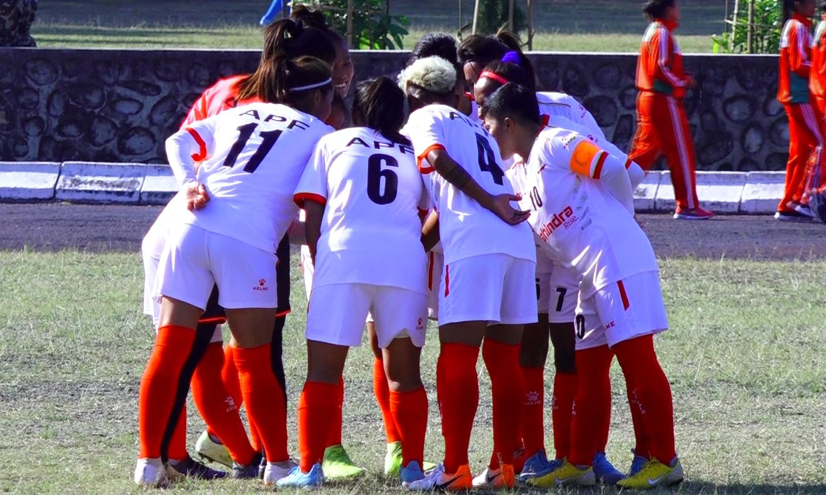 एपीएफ र आर्मीकाे महिला फुटबलमा प्रभावशाली जित
